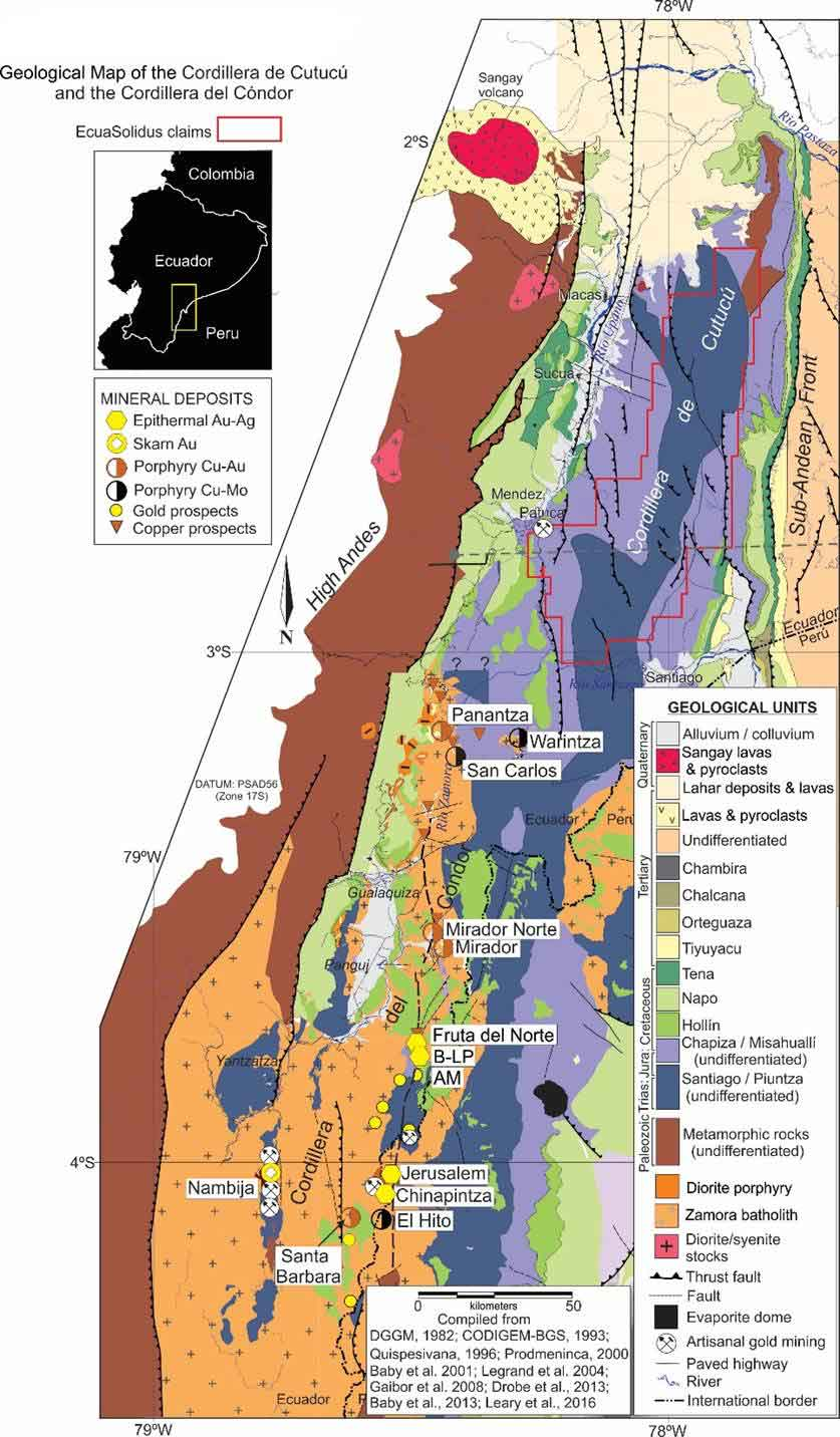 Cordillera del Condor Geological Map