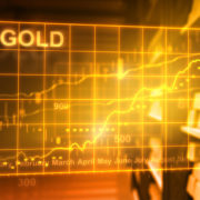 Gold bars and stock market