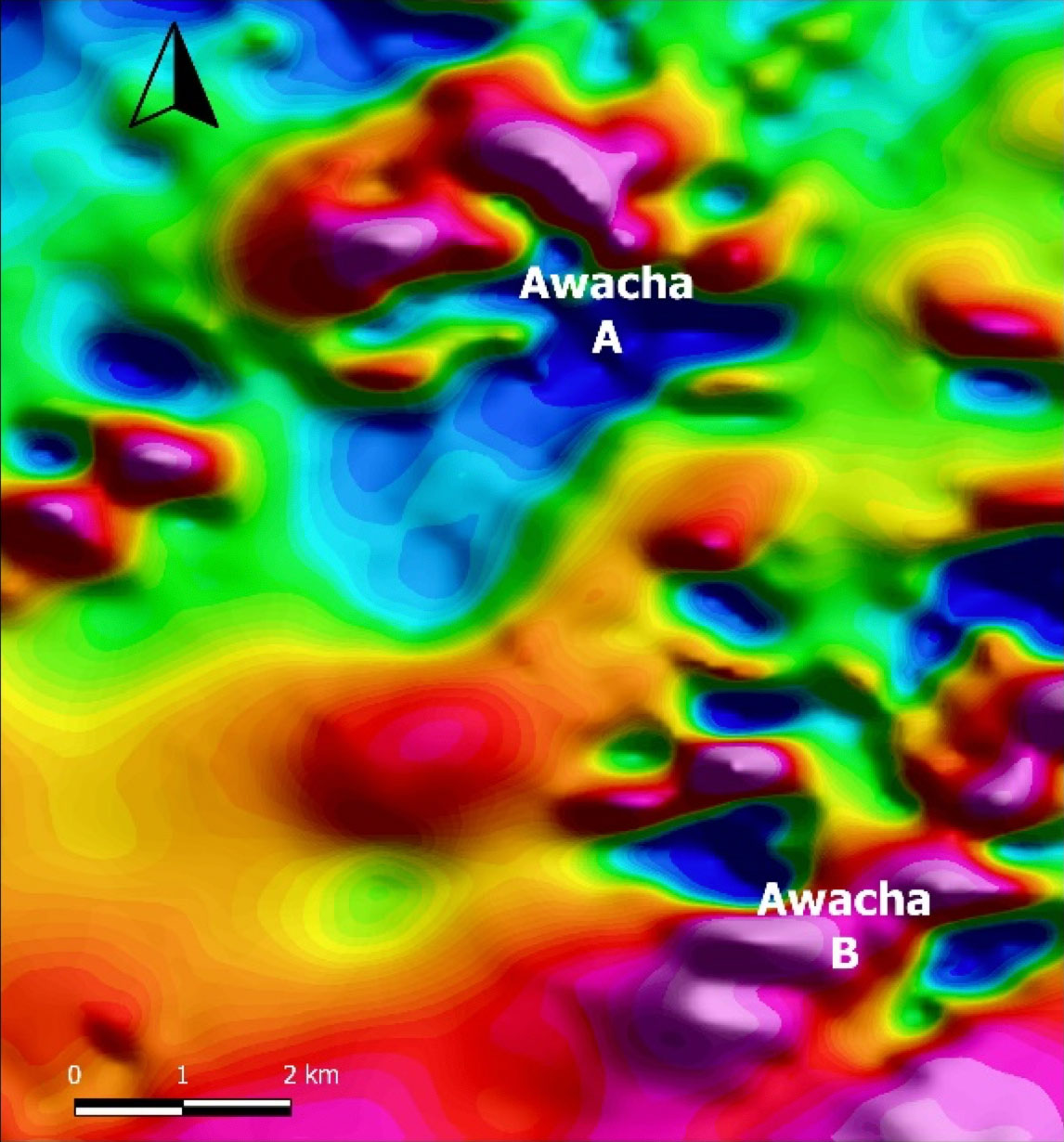Aurania Resource - Awacha Target Airborne Magnetics