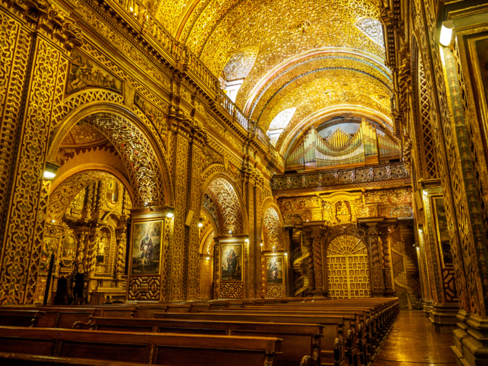 Gold adorned church